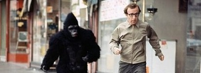 Criminals in hospital Woody allen being chased by a gorilla