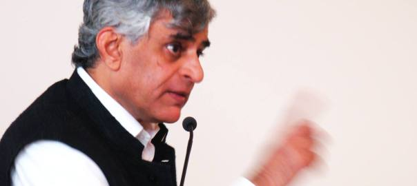 P Sainath delivering The Inaugural Maharaj Kaul Memorial Lecture at UC Berkeley