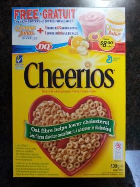 Cheerios Cereal Box