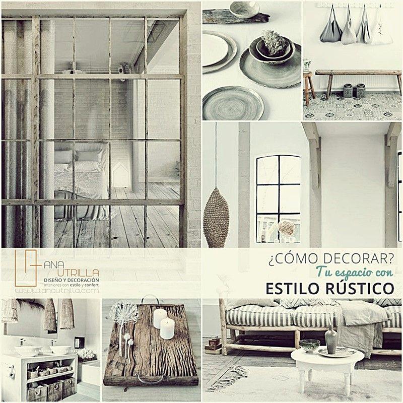 Dise o de interiores decoraci n ana utrilla estudio for Como decorar espacios pequenos estilo rustico
