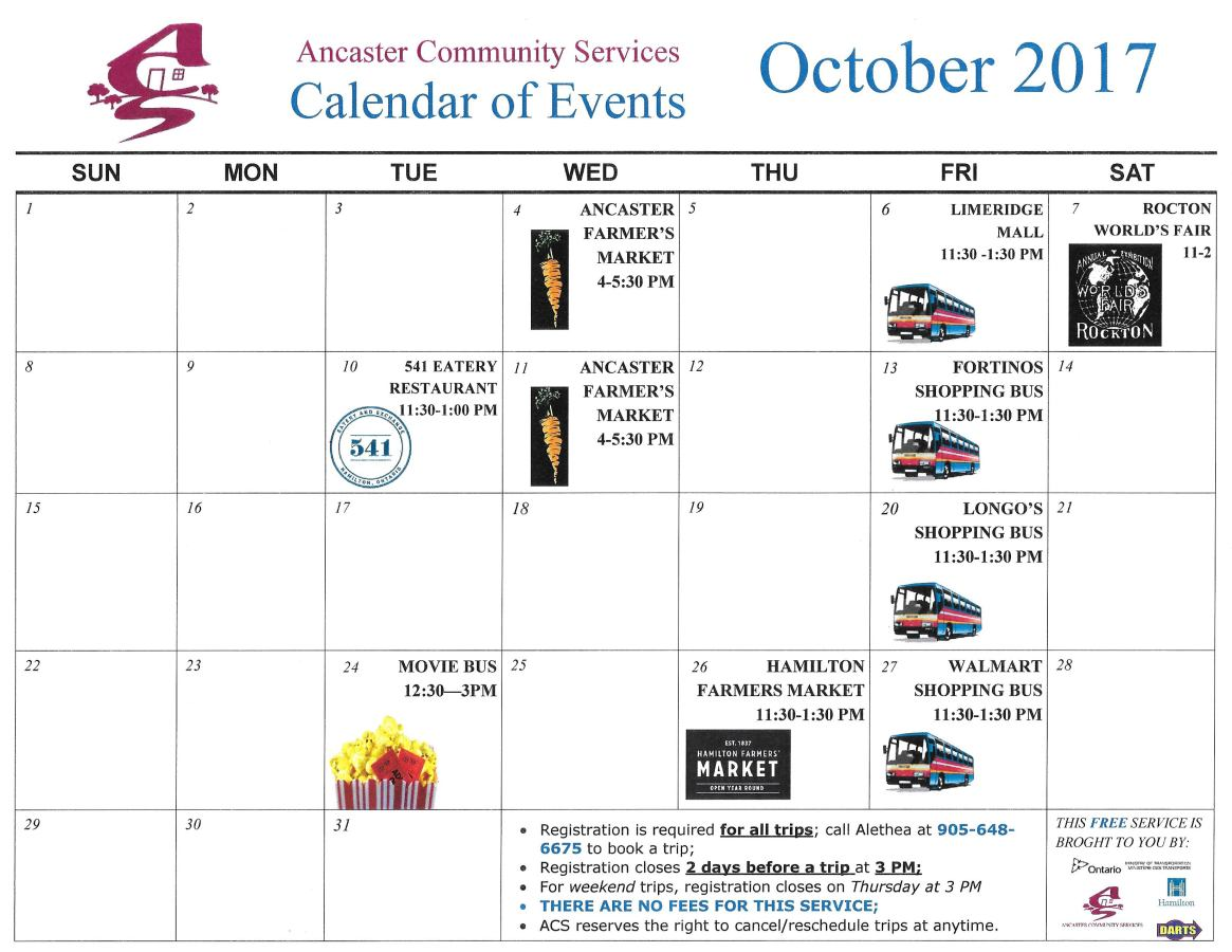 Community Shopping&Events Trips - Sept & Oct 20170002