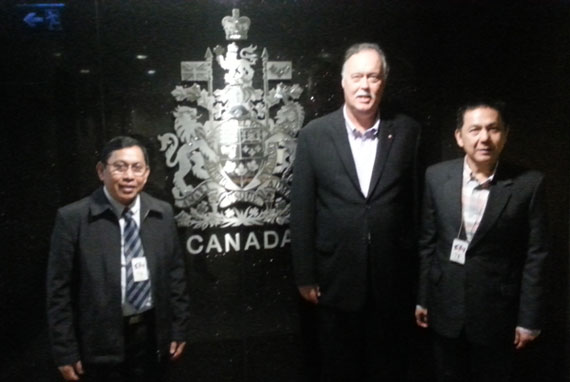 Canadian ambassador to the Philippines welcomed CFC ANCOP Canada officials