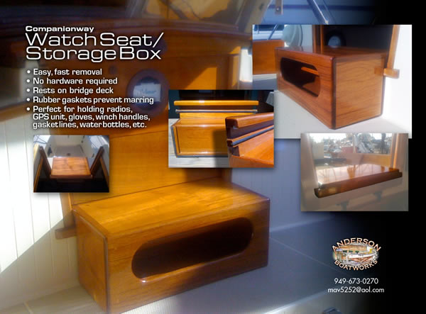 Watch Seat - Storage Box for boat
