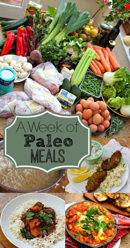 A Week of Paleo Meals from And Here We Are...
