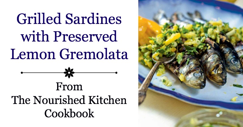 Grilled Sardines with Preserved Lemon Gremolata