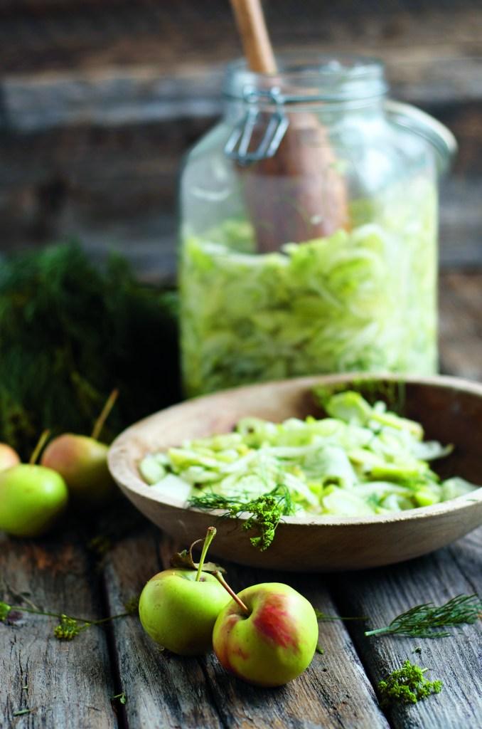 NKTN fennel, kohlrabi, and green apple relish image p 273