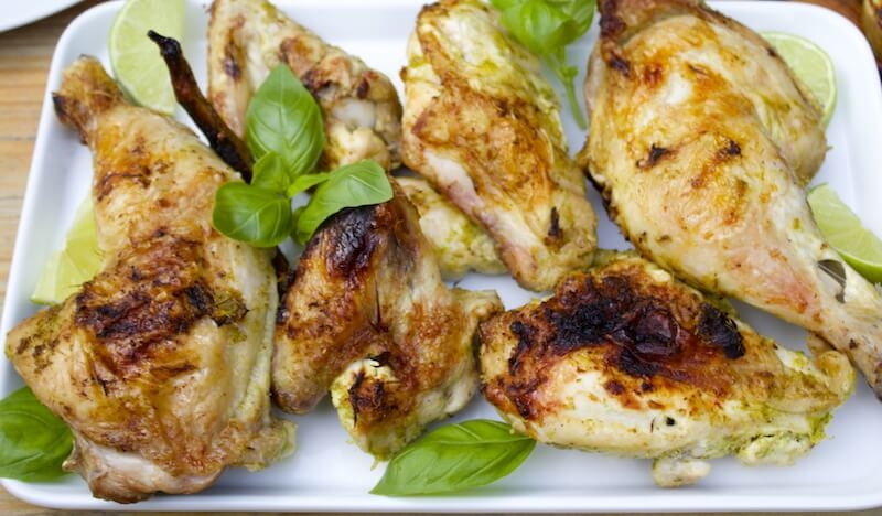Thai Grilled Chicken With Lemongrass, Basil and Lime