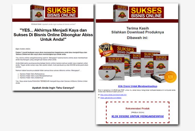 sukses bisnis online sales letter