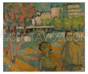 Cottavoz-les-quais-de-saone-1943-55x46- huile sur toile