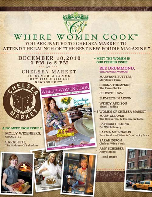 Where Women Cook launch party announcement