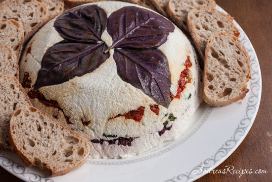 Andrea Meyers - Cheese Torta with Basil, Olives, and Sundried Tomatoes