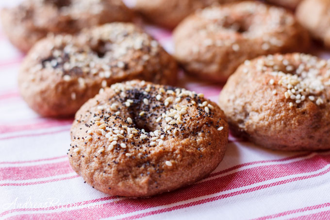 Andrea's Recipes - Whole wheat and rye bagels with poppy and sesame seeds