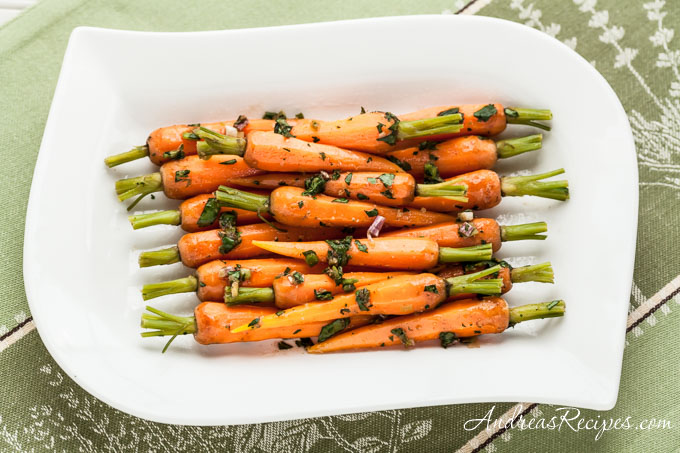 Andrea Meyers - Steamed Baby Carrots with Ginger-Garlic Butter