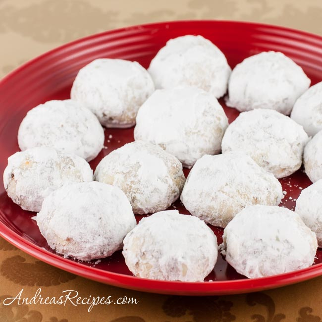 Coconut-Orange Snowball Cookies - Andrea Meyers