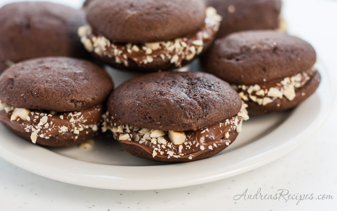 Andrea Meyers - Mini Chocolate Whoopie Pies with Nutella