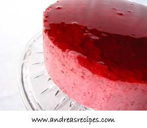 Strawberry Mirror Cake, lunar surface