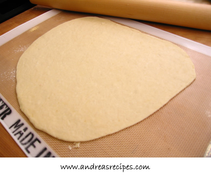 Andrea's Recipes - dough for lavash, rolled