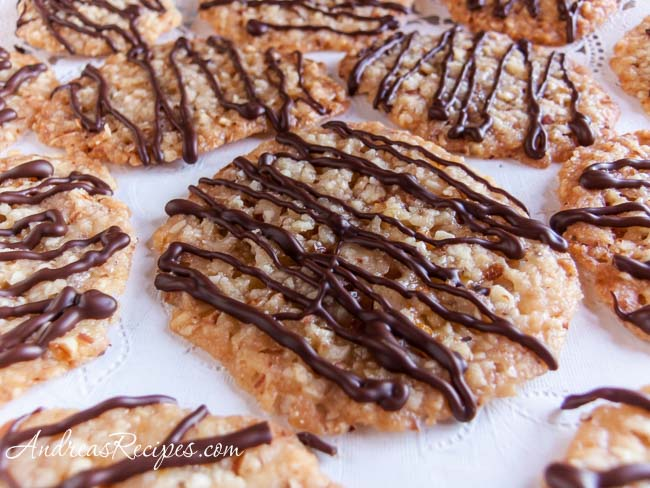 Andrea Meyers - Florentines with Chocolate Drizzle