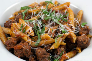 Culinary Disasters - Roasted Tomato Sausage Penne