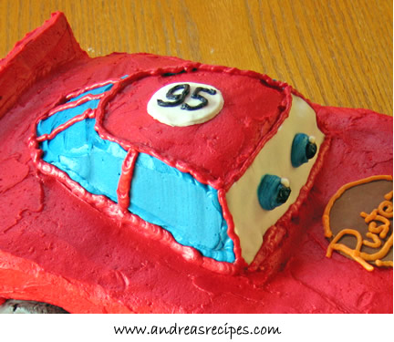 Lightening McQueen cake, #95