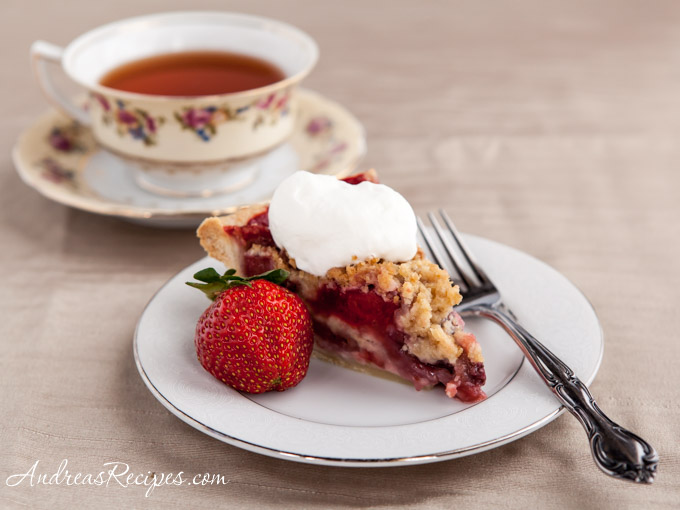 Andrea Meyers - Strawberry Crumb Pie with Almond Whipped Cream