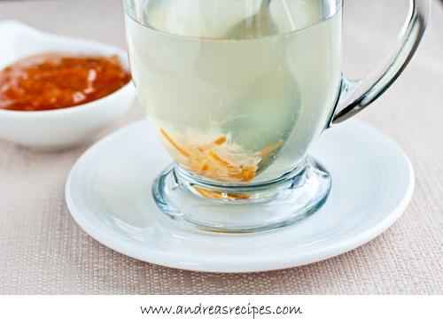 Andrea Meyers - Mug of Korean citron tea.