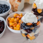Summer Fruit Trifles with Peaches, Cherries, and Blueberries - Andrea Meyers
