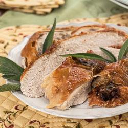 Sage-Roasted Turkey Breast Recipe - Andrea Meyers