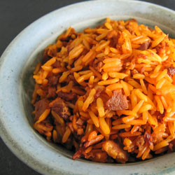 Saipan Red Rice (Eneksa Agaga) Recipe - Andrea Meyers