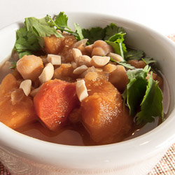 Slow Cooker Squash Stew Recipe with Garbanzo Beans and Red Lentils - Andrea Meyers