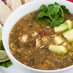 Roasted Tomatillo Soup with Chicken (Sopa Verde con Pollo) Recipe - Andrea Meyers