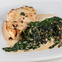 Chipotle Chicken with Creamy Spinach Recipe - Andrea Meyers