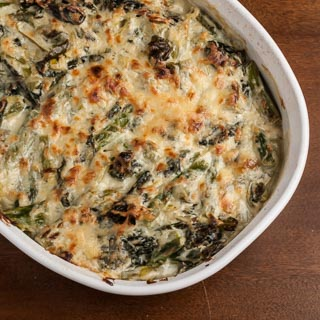 Asparagus and Chard Gratin Recipe - Andrea Meyers