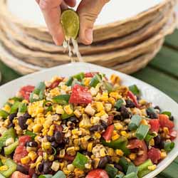 Andrea Meyers - Andrea Meyers - Grilled Corn Salad with Black Beans, Tomatoes, and Bell Pepper