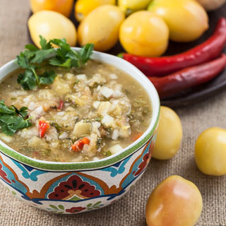 Sweet Yellow Tomato Salsa Recipe with Vidalia Onion, Red Chilies, Lime, and Cilantro - Andrea Meyers