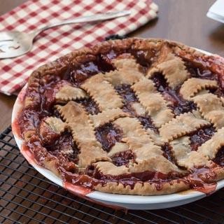 Strawberry Rhubarb Pie Recipe - Andrea Meyers