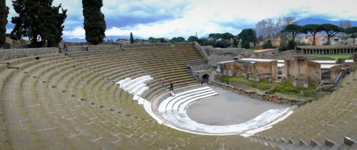 the theater in Pompeii