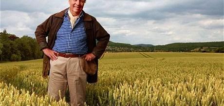Brian Archer standing amid crop in Ambridge. ©BBC