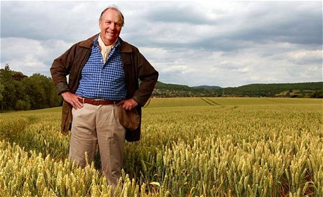 Brian Archer standing amid crop in Ambridge. ©BBC