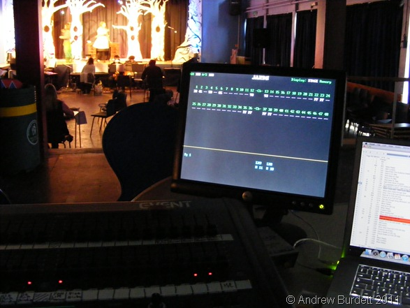LIGHT IT UP_A scene during 'Alice', as seen from behind the lighting desk (which I operate).