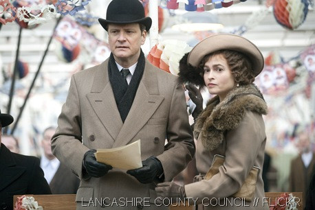 STAR ROLES_Colin Firth and Helena Bonham Carter as Prince Albert and Elizabeth Bowes-Lyon in The King's Speech. Photo taken from Lancashire County Council's Flickr account.