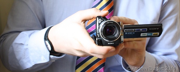 NEW CAMCORDER_My new (Christmas '10) Sony camcorder.