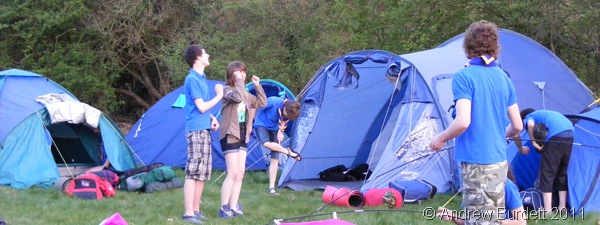 ERECTING THE TENTS_Us putting up our tents on Friday (8 April) evening.