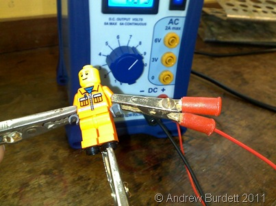 In a Physics lesson, a Lego minifigure was tortured… all in the name of science.