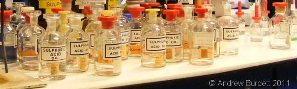DO NOT DRINK_Acids, ethanes, and sulphides in the labs at the University of Bath.