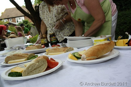 A PLOUGHMAN'S LUNCH_Bread and cheese on offer from Fran Harnby and Jenny Bartholomew.