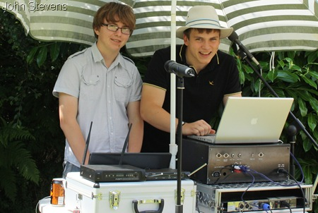 CHIC TO BE GEEK_Jake Smith and me operating the sound-system.