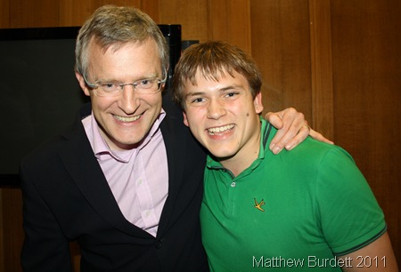 FRIENDLY FIGURE_Jeremy Vine and me. I took the opportunity to be photographed next to the man behind one of the most recognisable voices in radio, and one of the most famous faces in journalism.