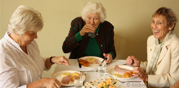 GOOD OLD CHUCKLE_Parishioners enjoying the Harvest Lunch.