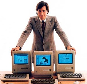 MAC MAN_Steve Jobs launched the Macintosh in 1984.